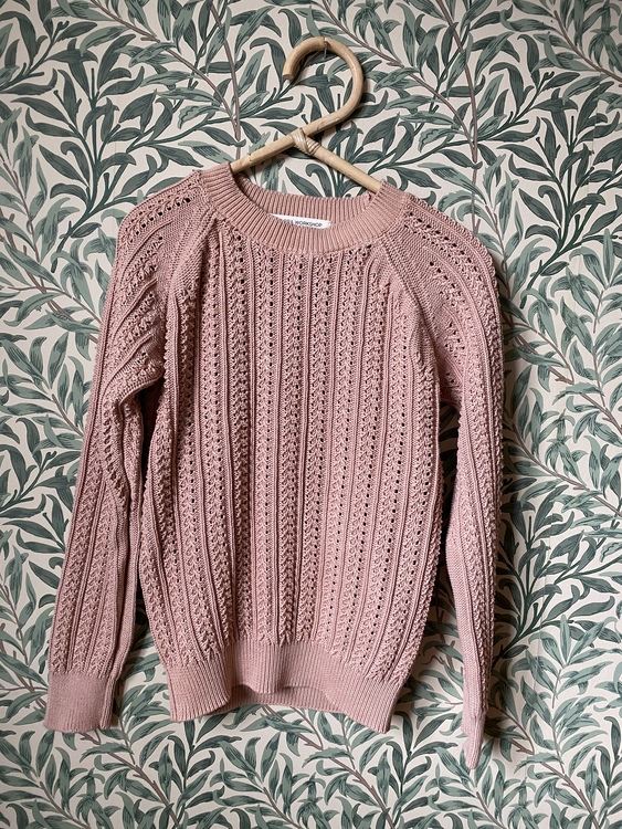 Knitted sweater size XS - Avocado pink