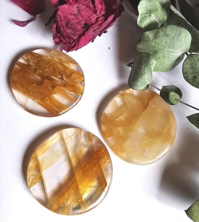 Gul Bergskristall/Golden Healer coins