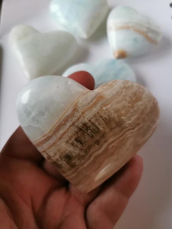 Hjärta Karibisk Kalcit/Aragonit