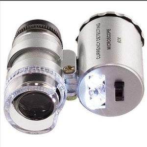 Lupp/microskop/uv-ljus med Led-belysning.