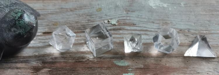 Set med geometriska former Bergkristall