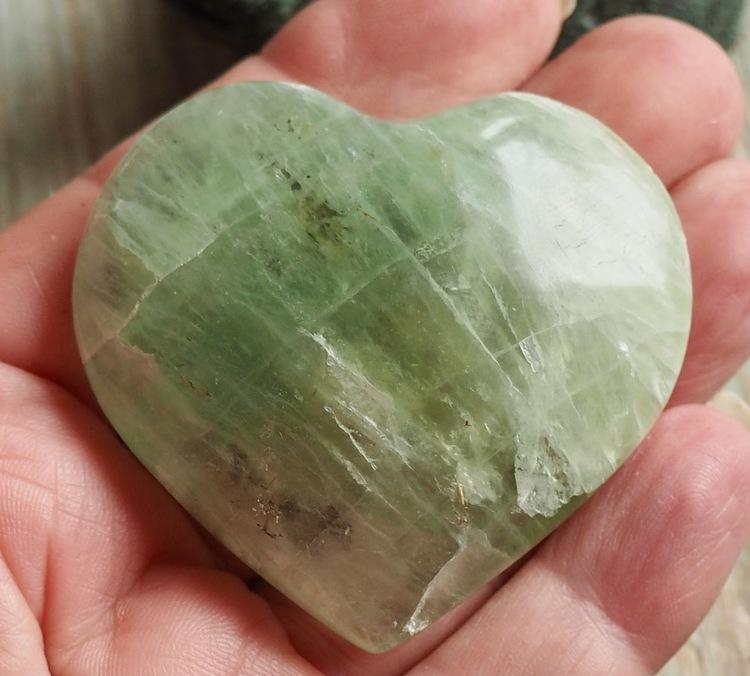 Hjärta Grön Fluorit