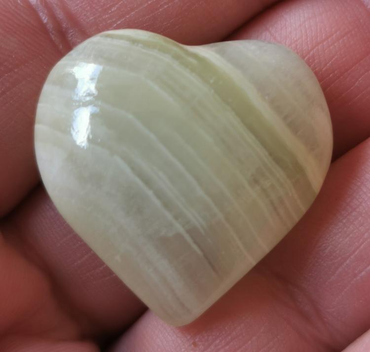 Hjärta Bandad kalcit