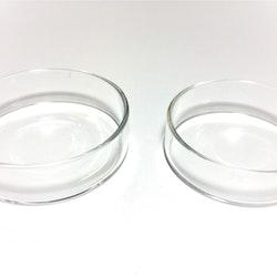 Foderskål, glas 2 pack