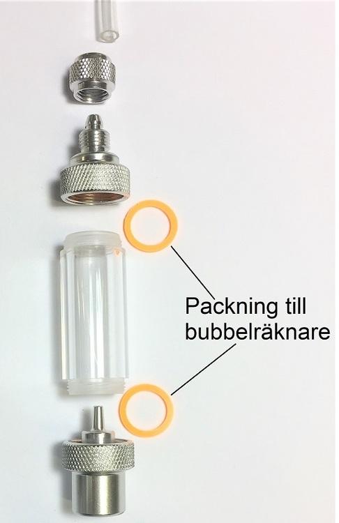 Packning till bubbelräknare