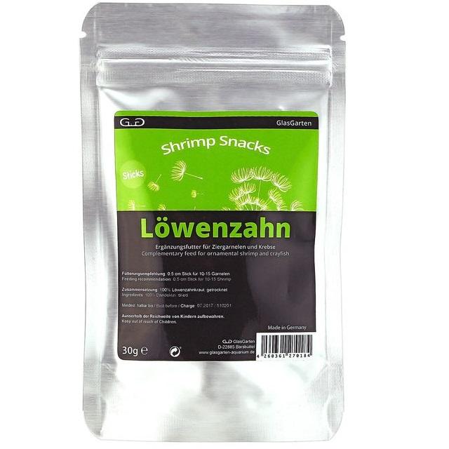 GlasGarten Shrimp Snacks Löwenzahn