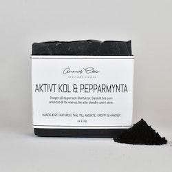Tvål med ativt kol och pepparmint