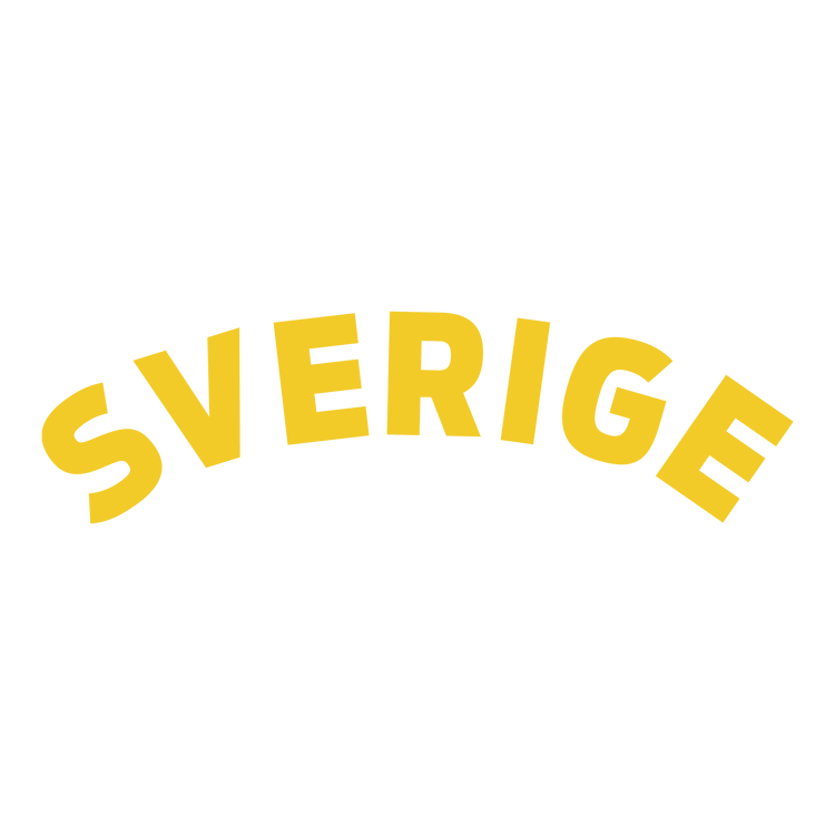 Sverige gul text
