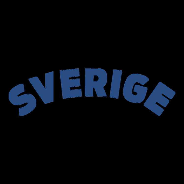 Sverige text blått