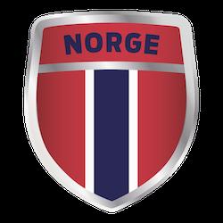 Norge supporter sköld