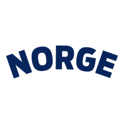 Norge supporter blå text