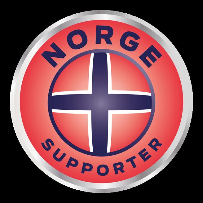 Norge supporter märke