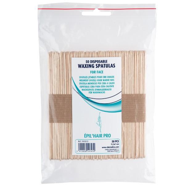 Träspatel till varmvax 50 st 11,3x1 cm