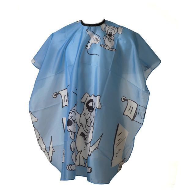 Frisörkappa barnmodell Blå hund
