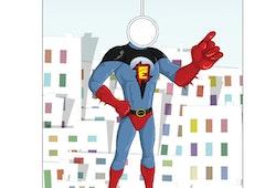 Frisörkappa barnmodell Superhjältar