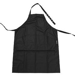 Frisörförkläde Svart Zipper