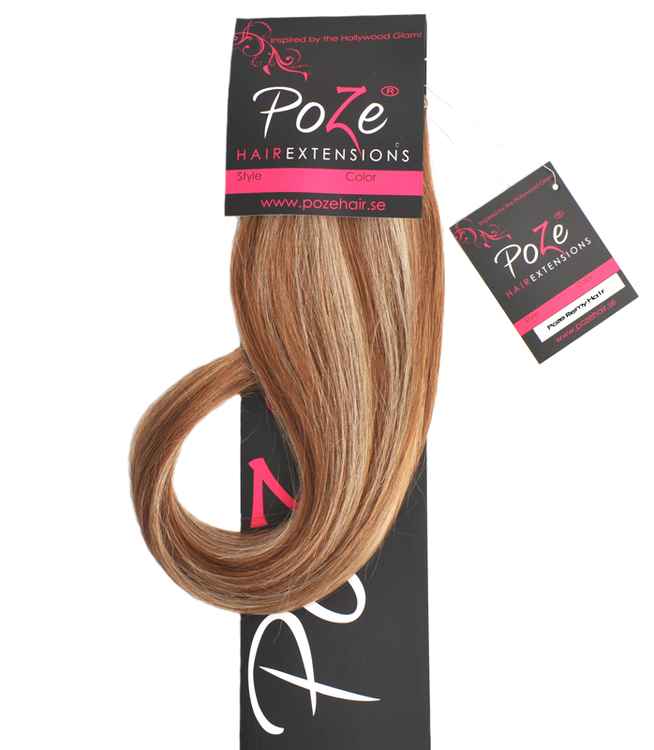 PoZe Äkta Clip N Go Set Extensions #12N/8B Blonde Caramel Mix #12N/8B Blonde Caramel Mix