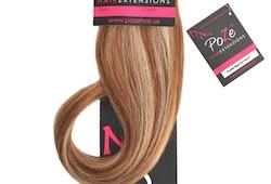 PoZe Äkta Clip N Go Set Extensions #12N/8B Blonde Caramel Mix #12N/8B Blonde Caramel Mix