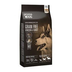 Prima Dog Adult All Breeds Sensitive Hjort & Kalkon, Grain Free