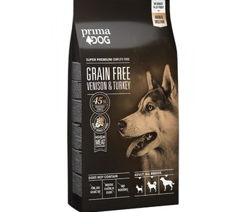 Prima Dog Adult All Breeds Sensitive Hjort & Kalkon, Grain Free