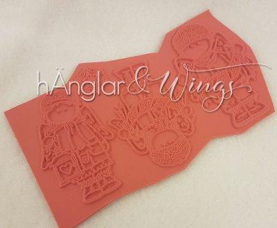 Rubber - Girlanger minifigurer 3st (Gummi)