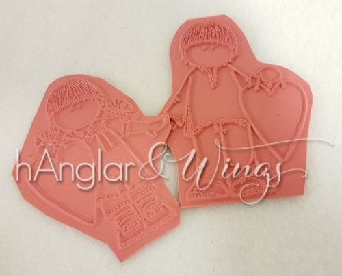 Rubber - Valentine Pair w/ hearts 2pc