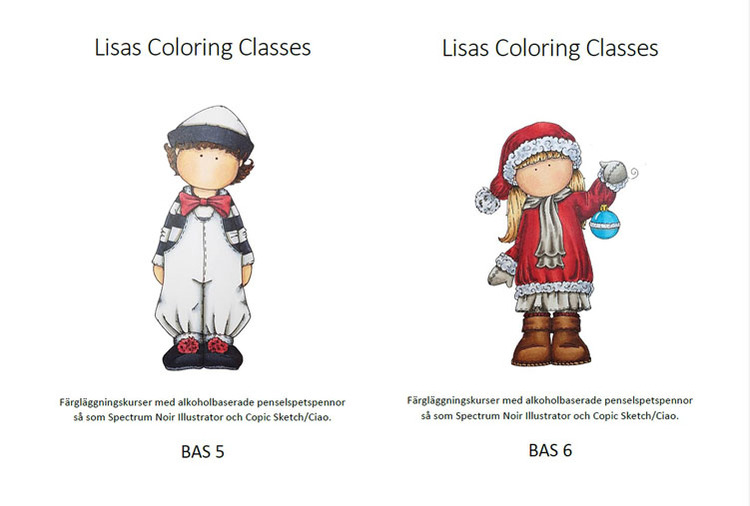 Färgläggningskurs Bas 5 och 6 - Lördag 5 December  kl. 9-16