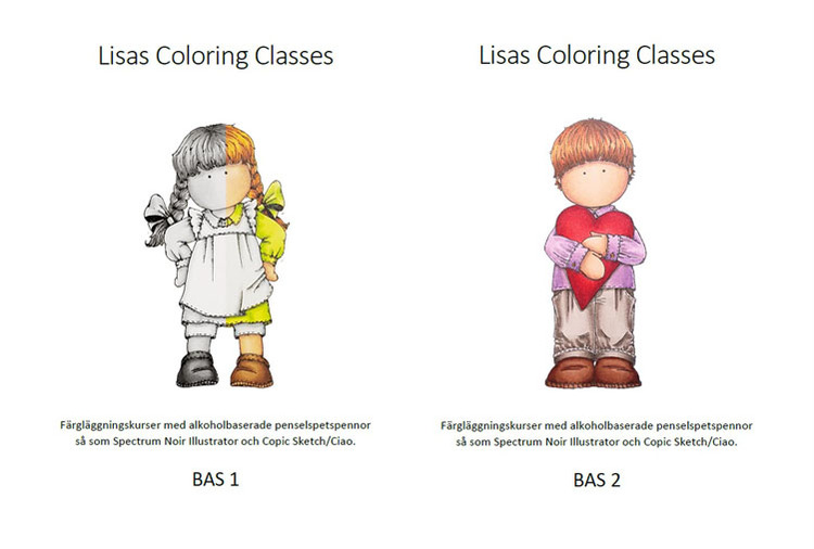 Färgläggningskurs Bas 1 och 2 - Lördag 17 April kl. 9-16