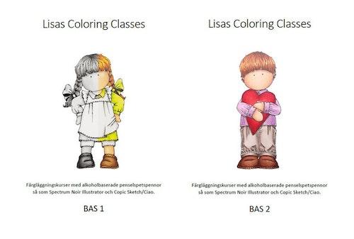 Färgläggningskurs Bas 1 och 2 - Lördag  19 juni  kl. 9-16