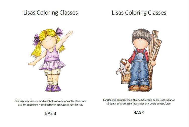 Färgläggningskurs Bas 3 och 4 - Lördag 21 augusti kl. 9-16