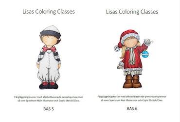 Färgläggningskurs Bas 5 och 6 - lördag 4 december  kl. 9-16