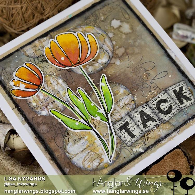 Clear Stamps - Grafiska Blommor