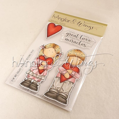 Clear Stamps - Hjärtevänner / Heart friends