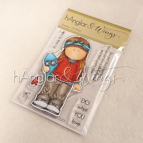 Clear Stamps - Skatetjej / Skate Girl - A7