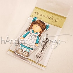 Clear Stamps - Rosettflicka / Girl with Bow -  A7