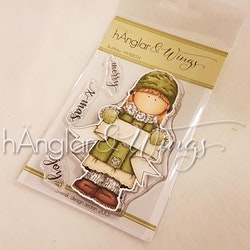Clear Stamps - Skyltflicka / Girl with Banner - A7
