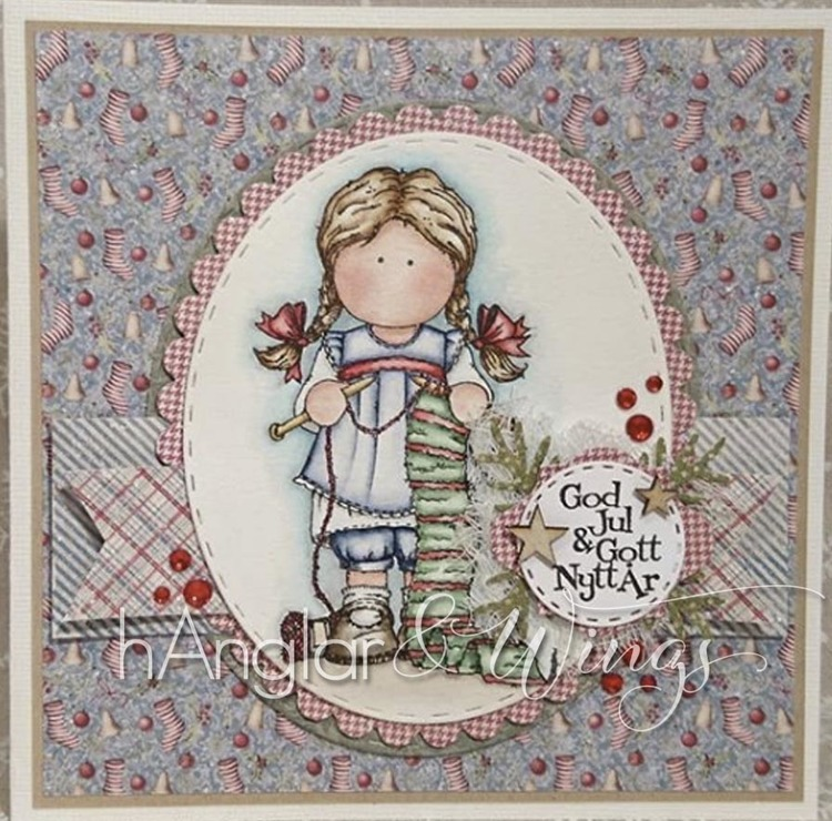 Clear Stamps - Stickflicka / Knitting Girl - A7