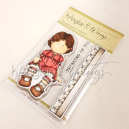 Clear Stamps - Flicka med Spetsbård / Girl with Lace -  A7