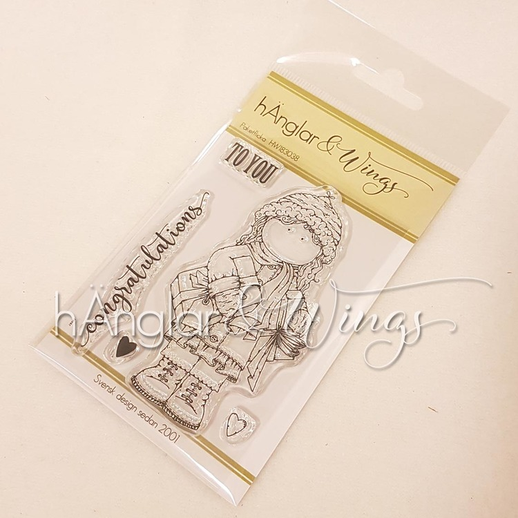 Clear Stamps - Paketflicka / Girl with Packages - A7