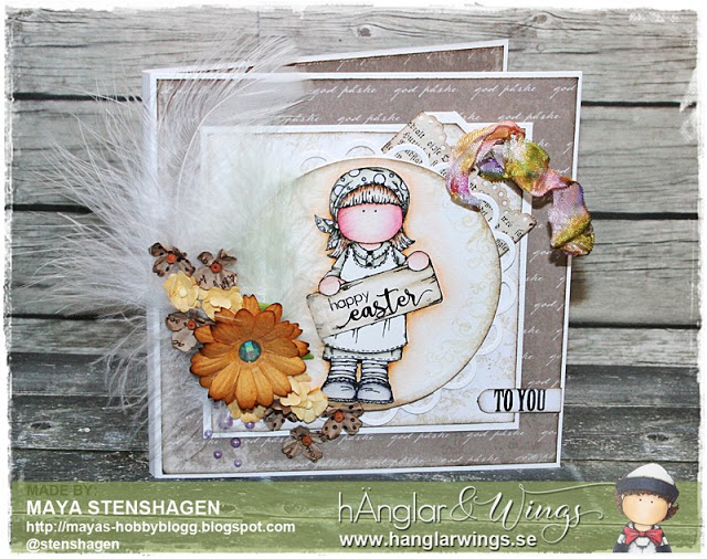 Clear Stamps - Tjej med Huckle / Girl with kerchief - A7