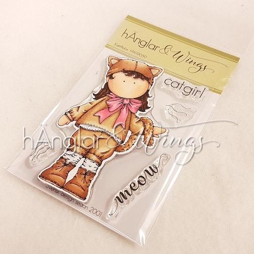 Clear Stamps - Kattflicka / Catgirl - A7