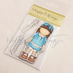Clear Stamps - Flicka med Hårband / Girl with hair bands - A7