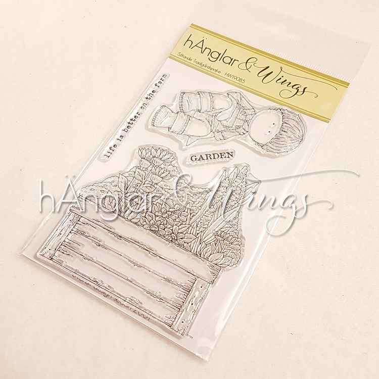 Clear Stamps - Sittande Trädgårdspojke