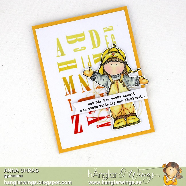 Clear Stamps - Rakt Alfabet med Siffror / Alphabet with numbers