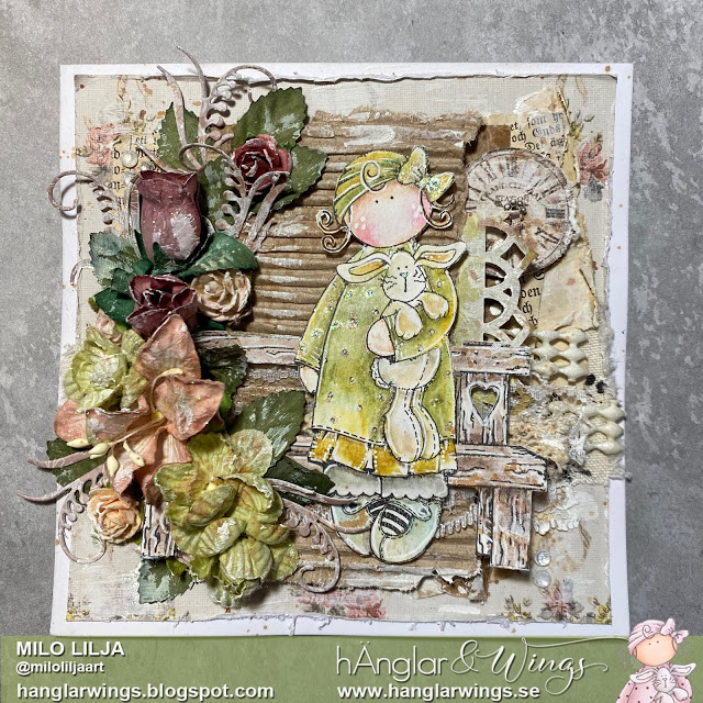 Clear Stamps - Blom- och Kaninflicka