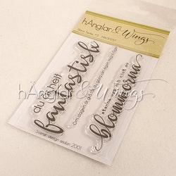 Clear Stamps - Stora Texter #3  A7