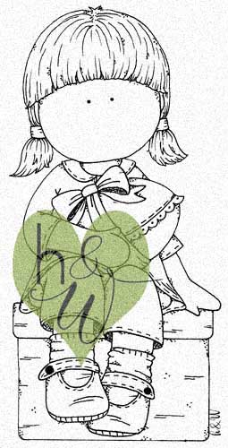 DIGI - Sittande flicka med Ägg