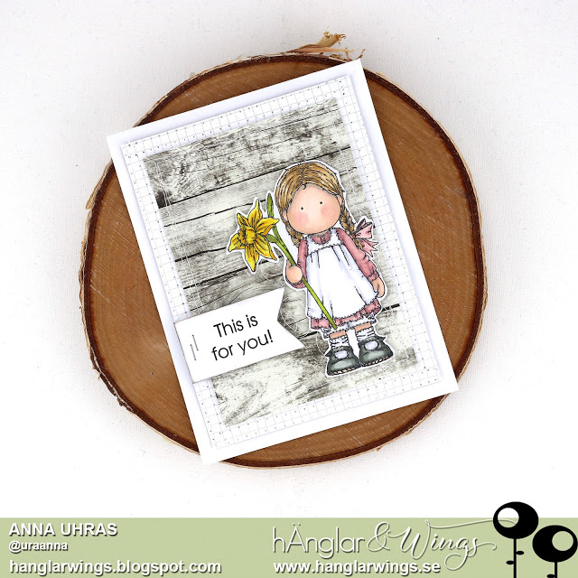 Clear Stamps - Flicka med Påsklilja  A7