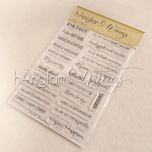 Clear Stamps - Viktigt