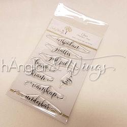 Clear Stamps - Inbjudan Script